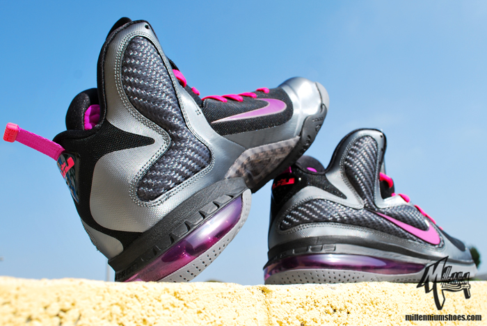 low priced 2d6a3 0ad1f 2011 NIKE LEBRON IX 9 MIAMI NIGHTS BLACK COOL GREY CHERRY GRAPE Sz 11