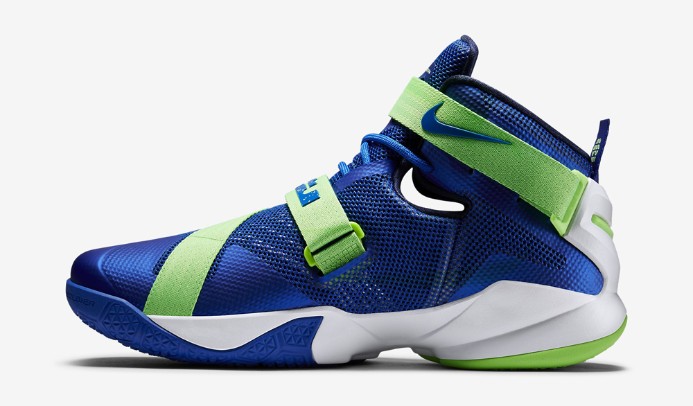best website 866ff 95b83 ... coupon code for nike lebron soldier 9 white with green straps 0cbb1  48083