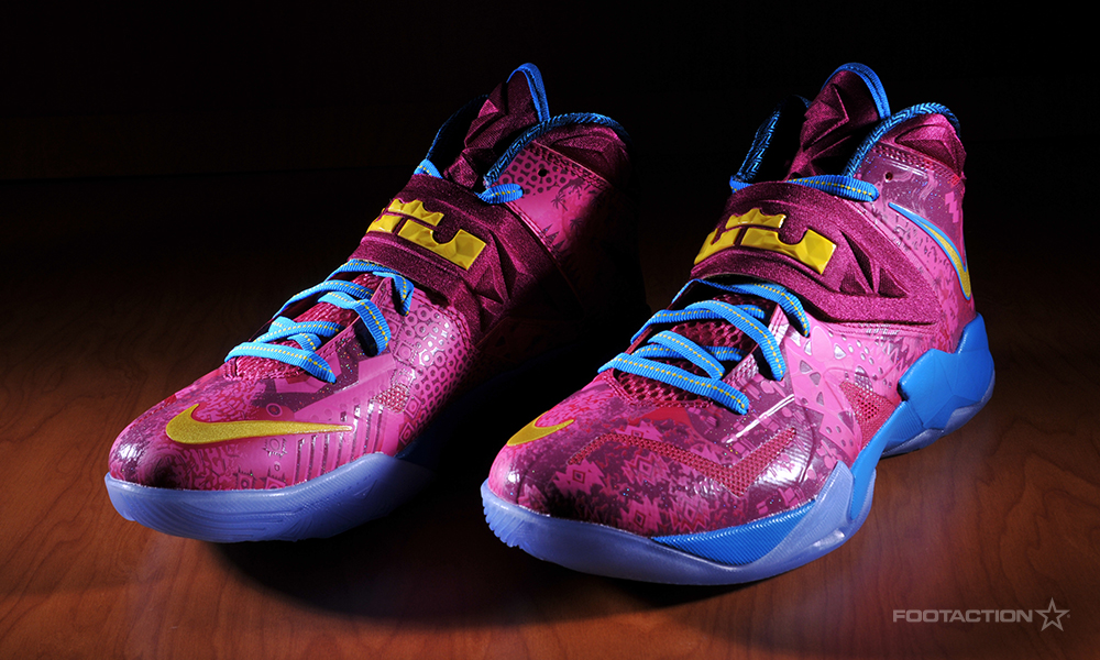 c3c4982fe7b4 Color  Hyper Fuchsia Tour Yellow-Raspberry Red Style  599264-601. Release  Date  11 09 2013. Price   125.00. Nike Zoom Soldier VII 7 Fuchsia Bronny  And Bryce ...