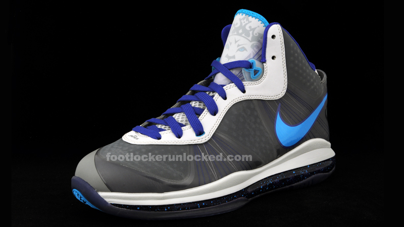 buy online 9aaa0 38b55 Nike Lebron 8 V.2 Grey Orion Blue-Concord