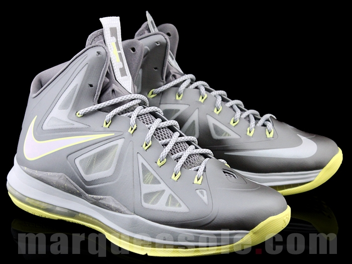 Used  Nike Lebron 10 X Basketball Shoe – Men s Size 11 – Grey Yellow ( Canary) af1cccb202ef