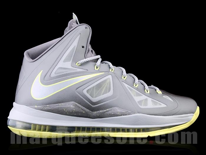 wholesale dealer f7337 986e5  Used  Nike Lebron 10 X Basketball Shoe – Men s Size 11 – Grey Yellow ( Canary)