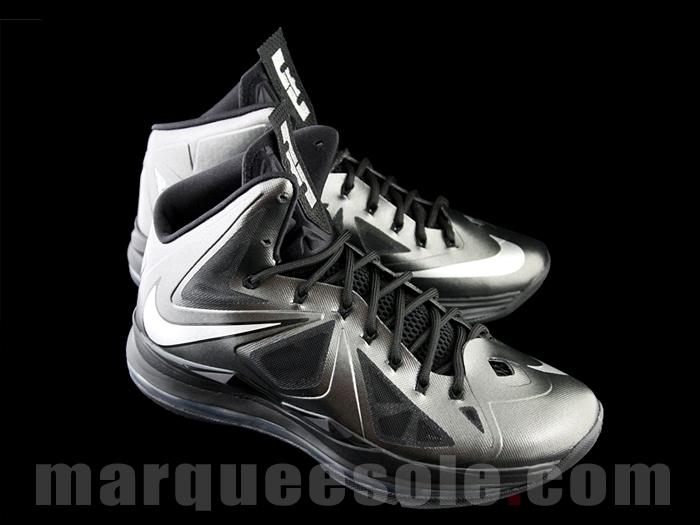 new concept d4494 e90bd Nike LeBron X 10 Black Diamond Metallic Carbon Size 10.5
