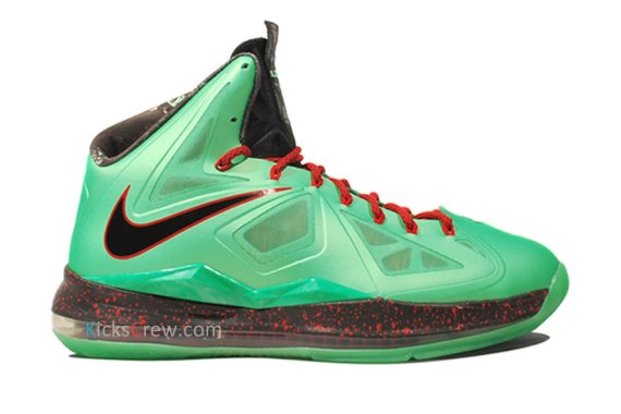 Nike LeBron X+ Color: Trmln/Black-University Red-Fiberglass Style:  541100-303-S Release: 10/10/2012