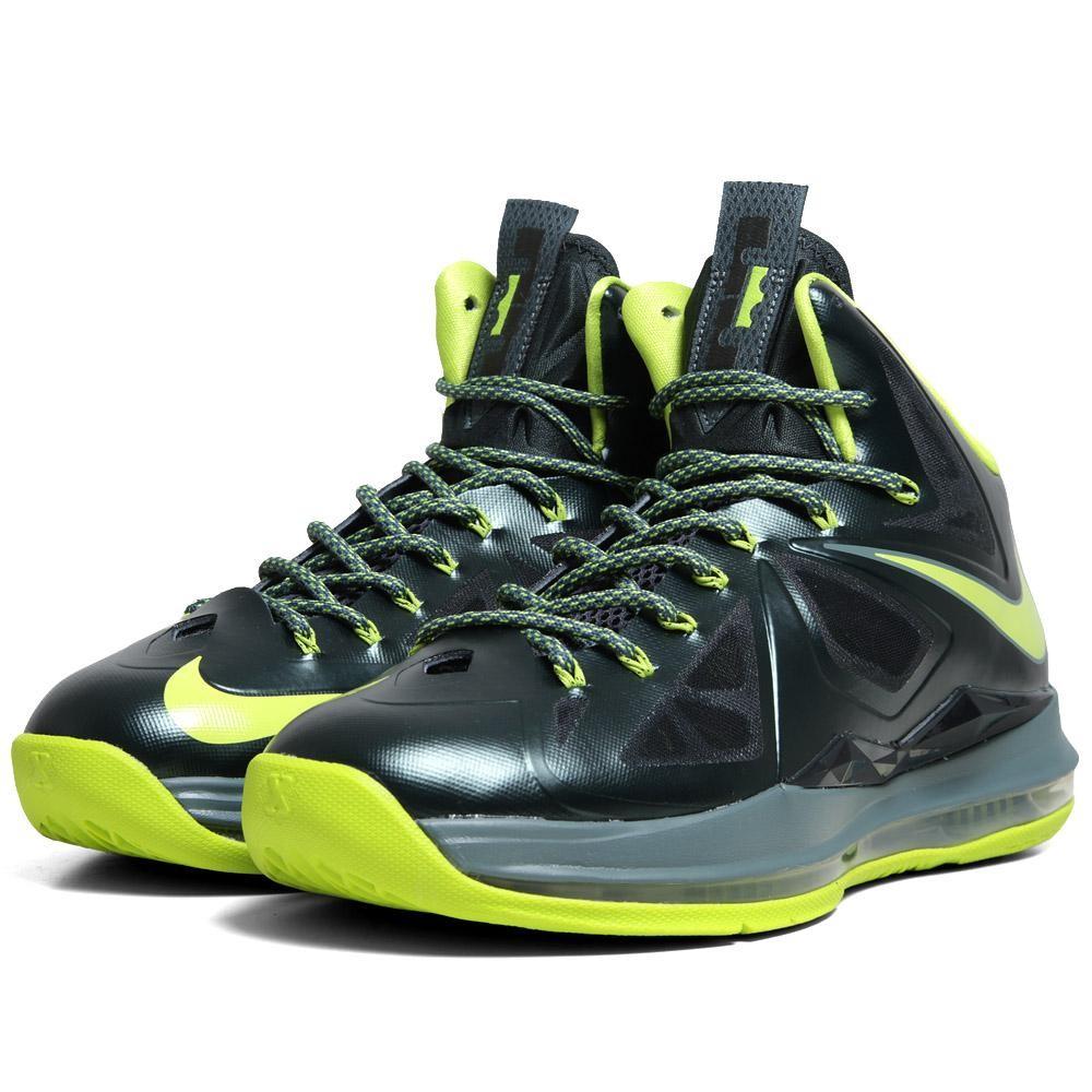 premium selection 4ea3e c8d70 Nike Lebron Zoom X 10 Dunkman Atomic Green Size 10 2012 Basketball Shoes