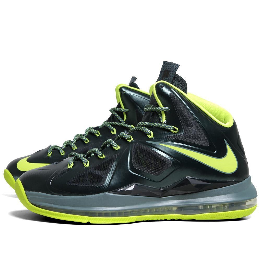 43e6f3fab5e Nike Lebron Zoom X 10 Dunkman Atomic Green Size 10 2012 Basketball Shoes