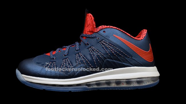 9a020dc707d Nike LeBron X (10) Low Color  Squadron Blue Sunburst-Shaded Blue Style   579765-400