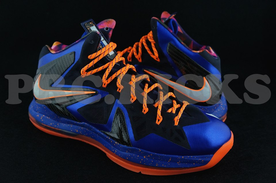 a4a69045c12c Nike LeBron X (10) P.S. Elite Color  Hyper Blue Pure Platinum-Blackened Blue  Style  579827-400
