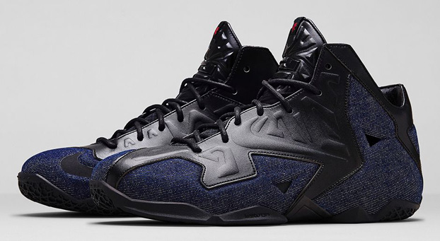 newest a424a c02bf Nike LeBron 11 EXT Color  Black Black-Denim Style  659509-004. Release  04  26 2014. Available sizes  8-12, 13, 14. Price   250.00