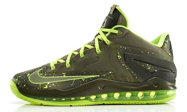 "best sneakers 41f20 a01b5 Volt has also been applied to the laces, sockliner and outsole. The Nike  LeBron 11 Low ""Dunkman"" will hit stores tomorrow, May 30. Retail price is   170."