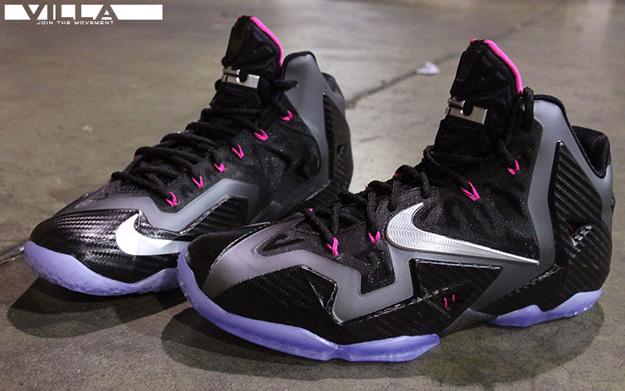 1b7900795c5e Nike Lebron XI 11 Miami Nights black silver pink Size 12
