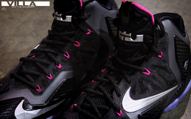 check out 9e356 62b42 Nike Lebron XI 11 Miami Nights black silver pink Size 12