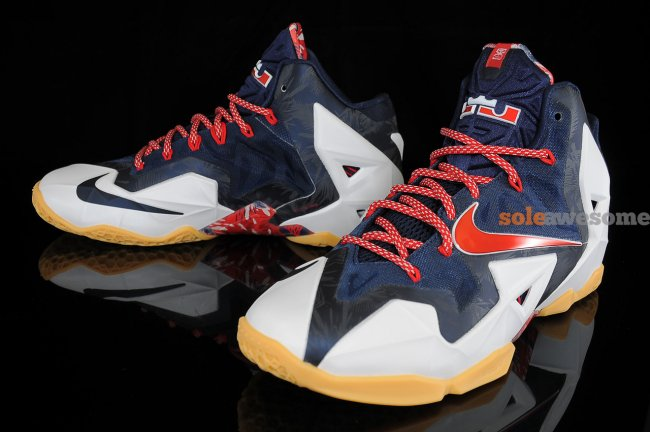 """low priced 196c3 ea166 The """"Independence Day"""" Nike LeBron 11 will release on July 4, retailing for   200. From Sole Awesome."""