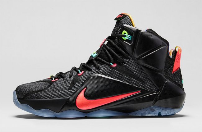 c44b617657b3 Nike LeBron 12 (XII) Color  Black Bright Mango-Hyper Punch-Volt Style   684593-068. Release  12 19 2014. Price   200.00 LeBron 12 GS (3.5Y–7Y)   160.00 LeBron ...