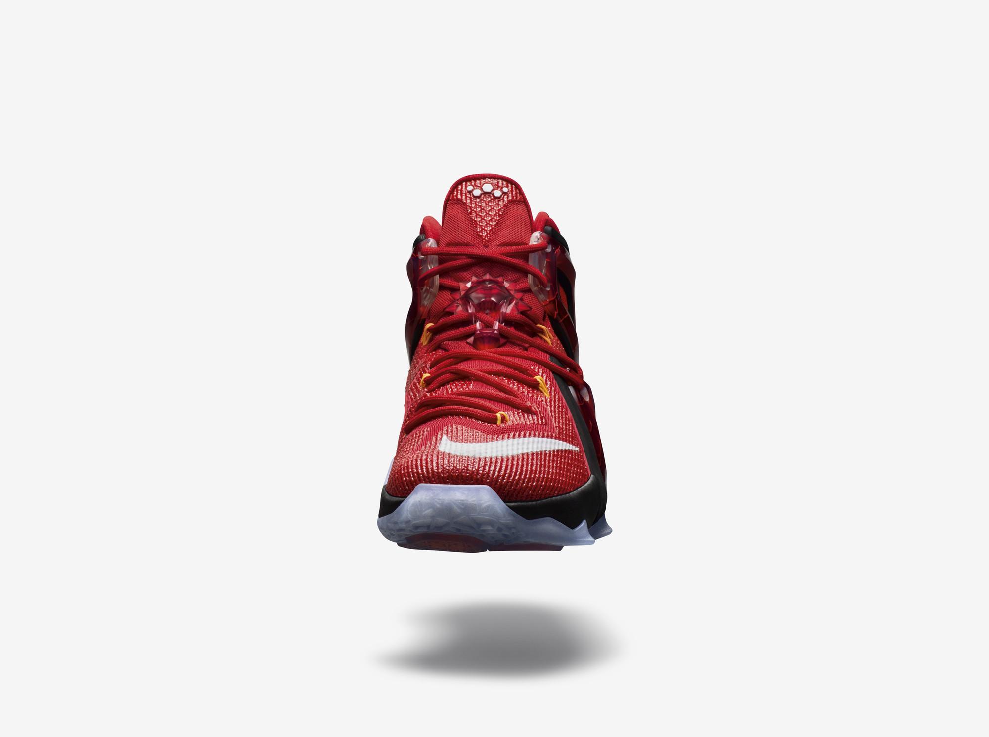 46b0b1c86f9c Nike LeBron XIV 14 White Wine Cavs Team Red Camo Gum Light Brown 852405-104