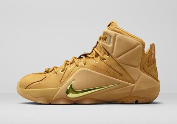 New Nike Lebron XII 12 EXT QS 744287-700 Wheat Gold men size 10.5