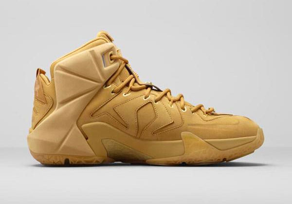 587bf412c821f New Nike Lebron XII 12 EXT QS 744287-700 Wheat Gold men size 10.5