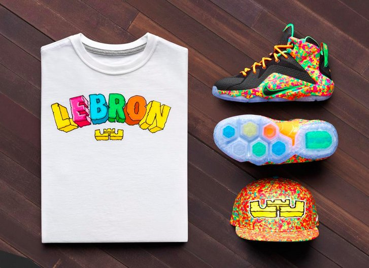 competitive price 0945d 65d06 Orange laces and green graphics serve as supporting colors, while a clear  outsole keeps the sneaker looking clean. The Fruity Pebbles Nike LeBron 12  will ...