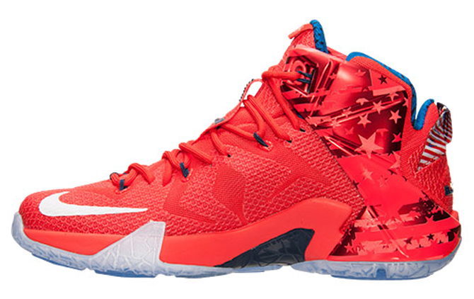 Nike LeBron 12 (XII) Color  Light Crimson White-Bright Crimson-Midnight  Navy Style  684593-616. Release  06 27 2015. Price   200.00  8b2a763f8