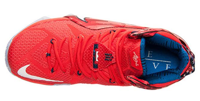 Nike LeBron 12 Cleveland Witness Laser Orange Bright Crimson 684593-830 Sz  11 539af3d49