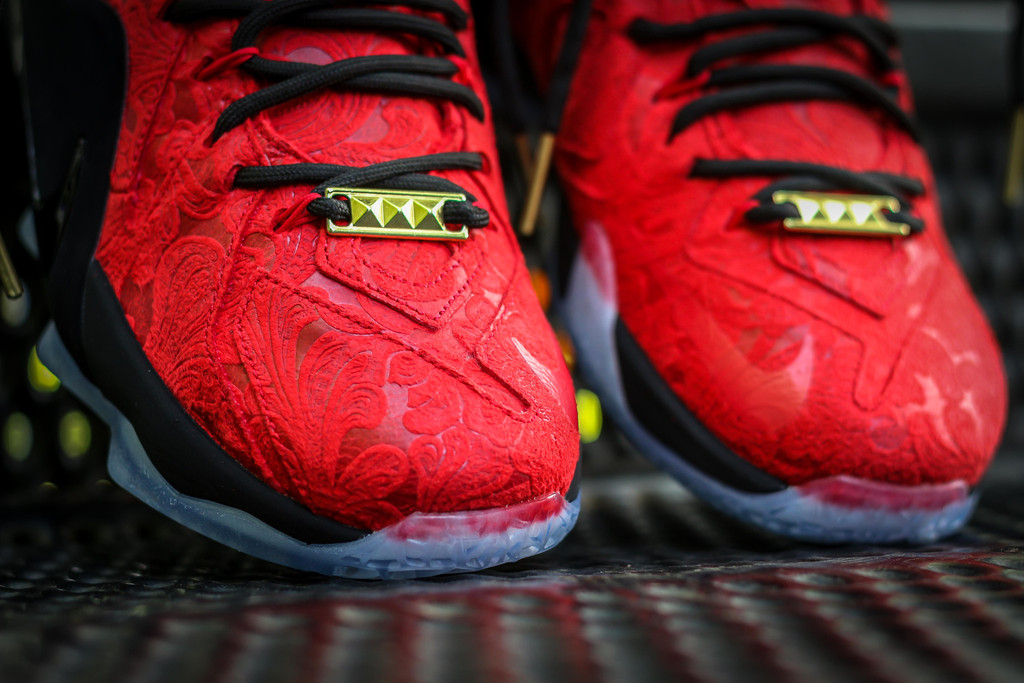 383a4eee92d ... discount code for nike lebron 12 red paisley sz 10.5 brand new 322c2  a43b8