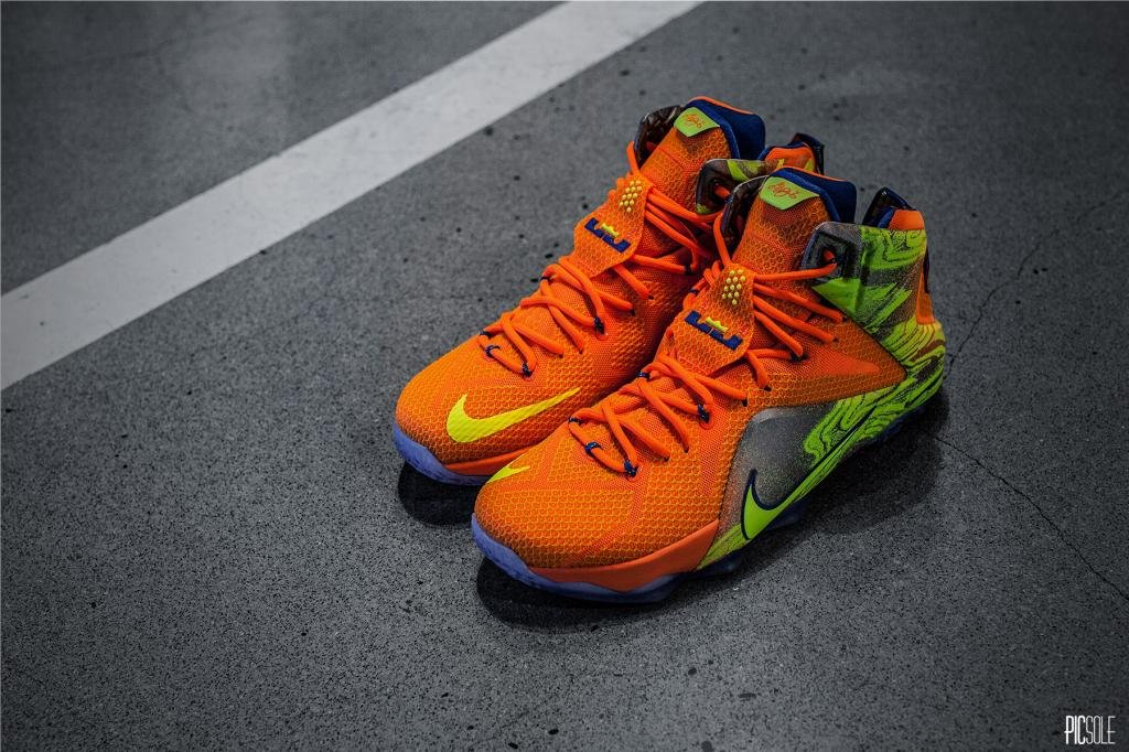 size 40 29645 bb7b1 nike lebron 12 orange volt