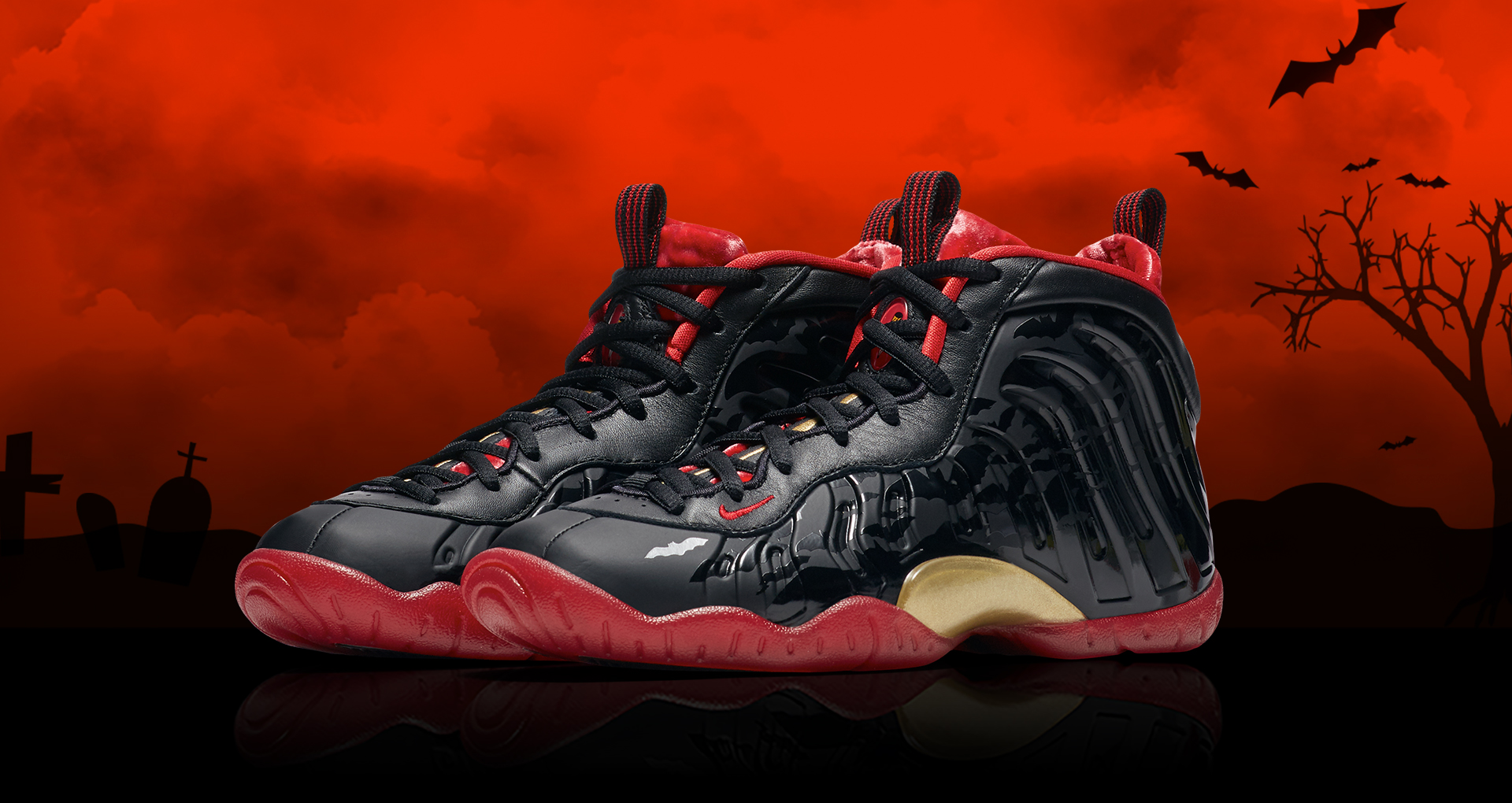 best loved d9972 25fe9 Nike Little Posite One Color  Black University Red-Metallic Gold Style  Code  846077-003. Release Date  10 13 2017. Price   180.00