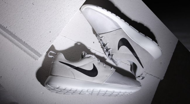 02155980a214 Nike Roshe Run Suede Color  Light Ash Grey Black-Summit White-Volt Style   685280-017