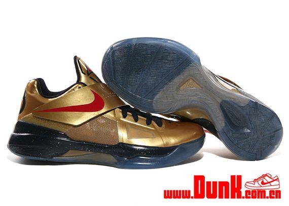 sports shoes 24789 69d53 Nike KD VIII 8 Elite Kevin Durant GOLD MEDAL BLACK METALLIC 834185-071  (Size 10)
