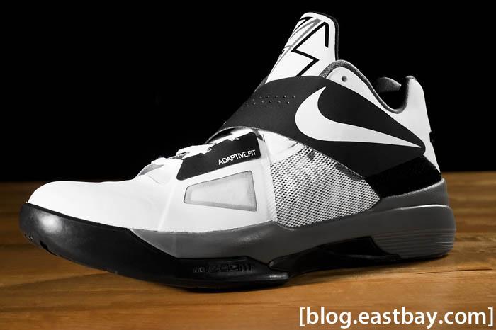 designer fashion ac521 9ebbf Nike Zoom KD IV Color  White White-Black-Cool Grey Style  473679-101.  Price   95.00