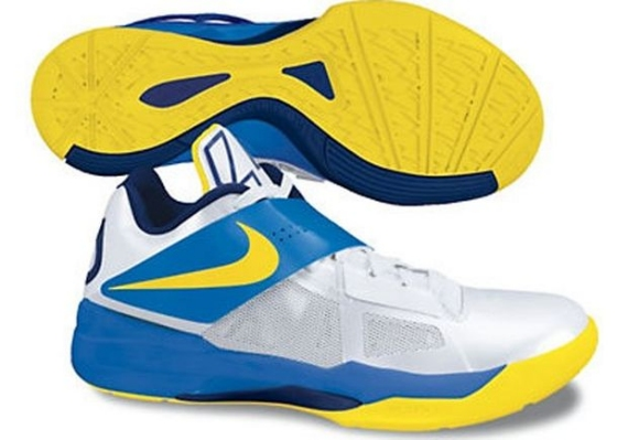 new concept e602f 7855c Nike Zoom KD IV Color  White Photo Blue-Midnight Navy-Tour Yellow Release   Spring 2012. Nike Zoom KD IV 4 Midnight Navy Team Orange ...
