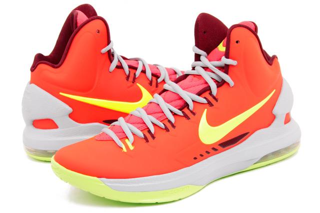 save off a476e 41ad7 Nike KD V (5) Color  Bright Crimson White-Wolf Grey Style  554988-610.  Release  12 15 2012. Price   115.00