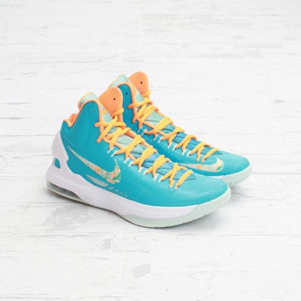 factory authentic e798d 2d424 Nike KD V(5) Color  Turquoise Blue Bright Citrus-Fiberglass Style   554988-402. Release  3 29 2013. Price   115.00