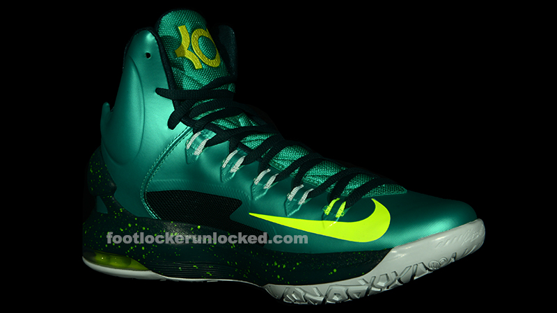 nike kd v (5) color atomic teal volt dark atomic teal fiberglass gamma ray release 03 09 2013price 1