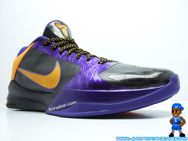 check out 9acd4 5411f You ll see Kobe and many of his Lakers teammates wearing these during the  road games. This pair has a black and purple upper, with a maize swoosh and  ...