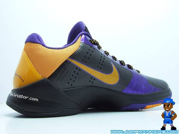 check out c1d40 245ec You ll see Kobe and many of his Lakers teammates wearing these during the  road games. This pair has a black and purple upper, with a maize swoosh and  ...