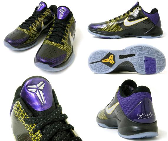 86f5cbce7406 Nike Zoom Kobe I 1 Blackout Sz 13 Black White Purple Yellow Og Iv Iii Vi V  Asg X
