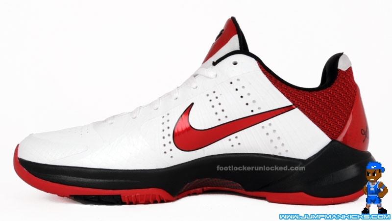 huge selection of 4f4be 31fa5 This pair has a very simple color scheme, but in this case, that s  definitely a good thing. The White Varsity Red-Black Kobe V is scheduled  for release on ...