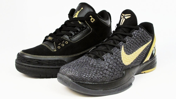 The Air Jordan IIIs use a combination of black nubuck suede and leather for  the upper 7015b2cc3769