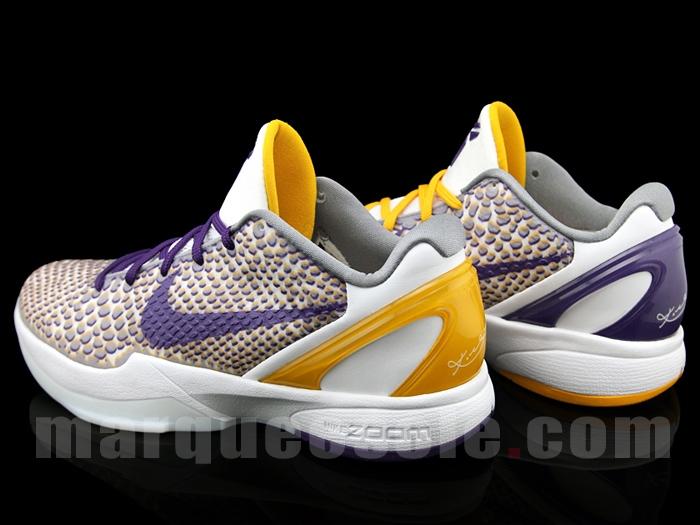 956f4f26651 Nike Zoom Kobe 6 VI sz 11.5 Imperial Purple Del Sol Yellow Lakers 429659-501