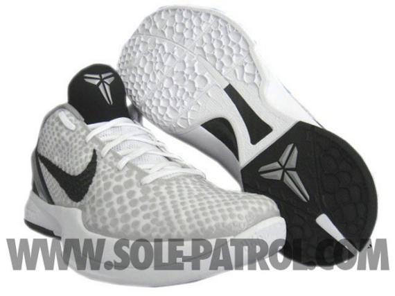 a12b1f788db6 Nike Zoom Kobe VI (6) White Grey-Black