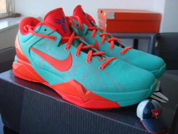 san francisco 9b5d8 b96db Nike Zoom Kobe VII (7) System Clear Mint Bright Crimson-Mint Candy Style   488371-301. Released  08 21 2012