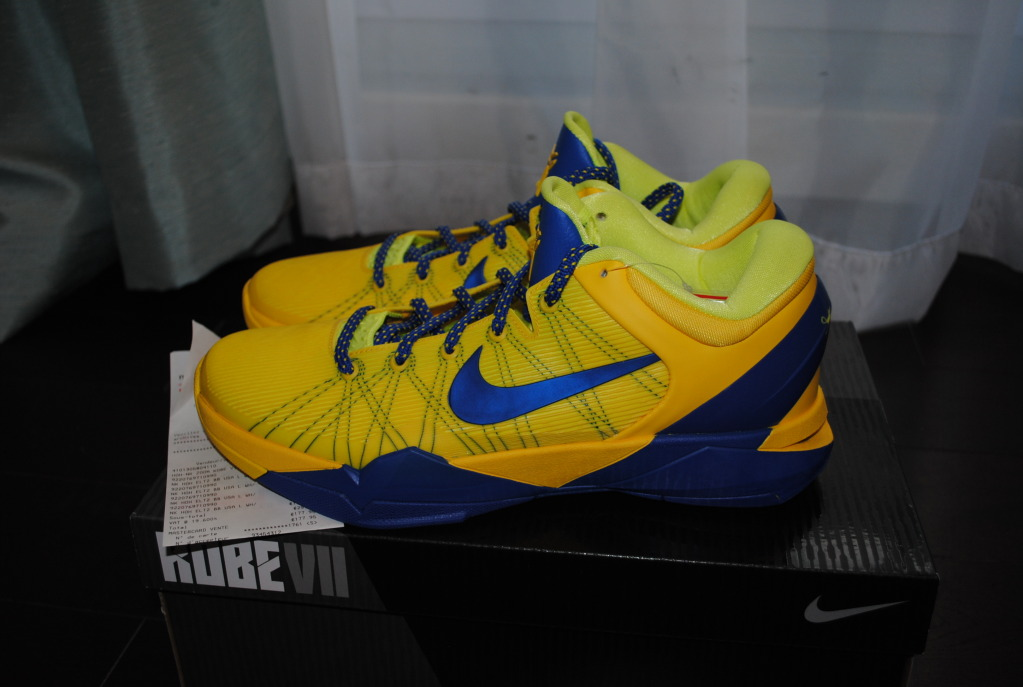 8170186e728e Nike Zoom Kobe VII Barcelona - Tour Yellow Game Royal