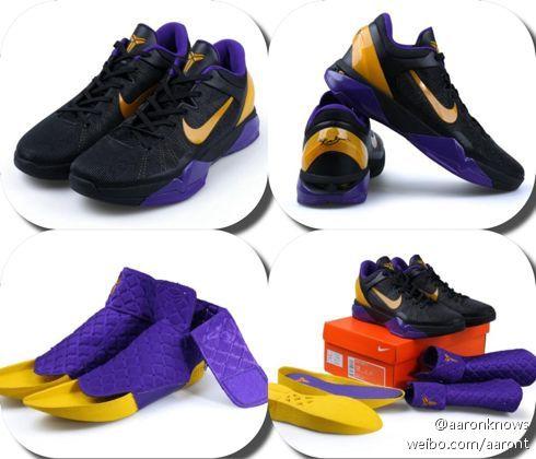new concept 4b374 9f586 Hot Nike Kobe VII Supreme Black Purple Gold