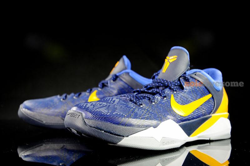 brand new d29cc 37aee Nike Zoom Kobe VII Midnight Blue/Yellow-Black