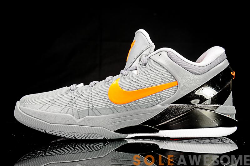 85a60516d7cd Nike Zoom Kobe VII Color  Wolf Grey Total Orange-Cool Grey-Black-White  Style  488371-002. Release  03 01 2012. Price   140.00