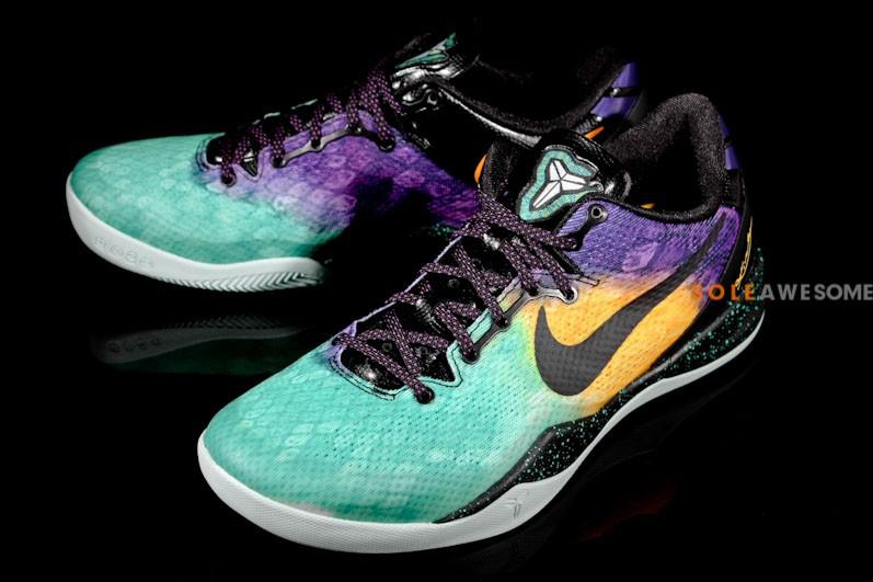 high quality large discount no sale tax Nike Kobe VIII (8) System - Aqua/Yellow-Purple