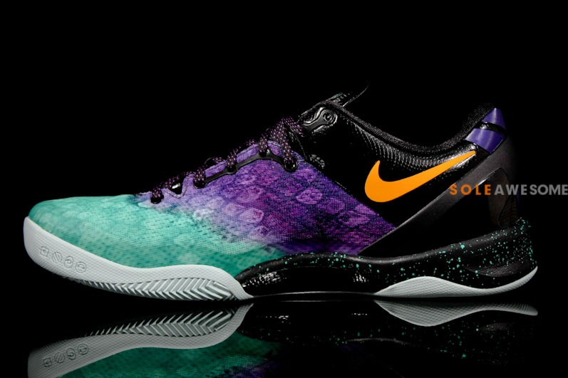 Womens Nike Zoom Kobe 8 Orange Silver