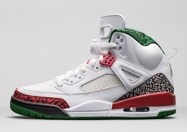the latest e77e8 398ad Jordan Spizike Color  White Varsity Red-Cement Grey Style  315371-125.  Release  08 09 2014. Price   175.00